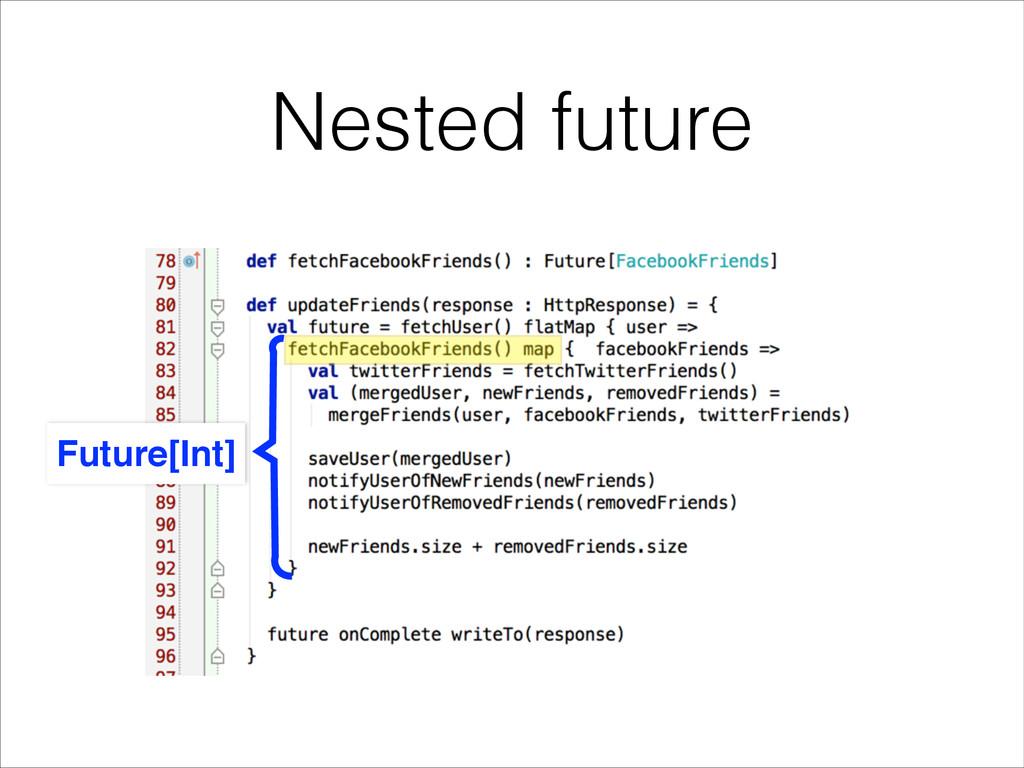 Nested future Future[Int]