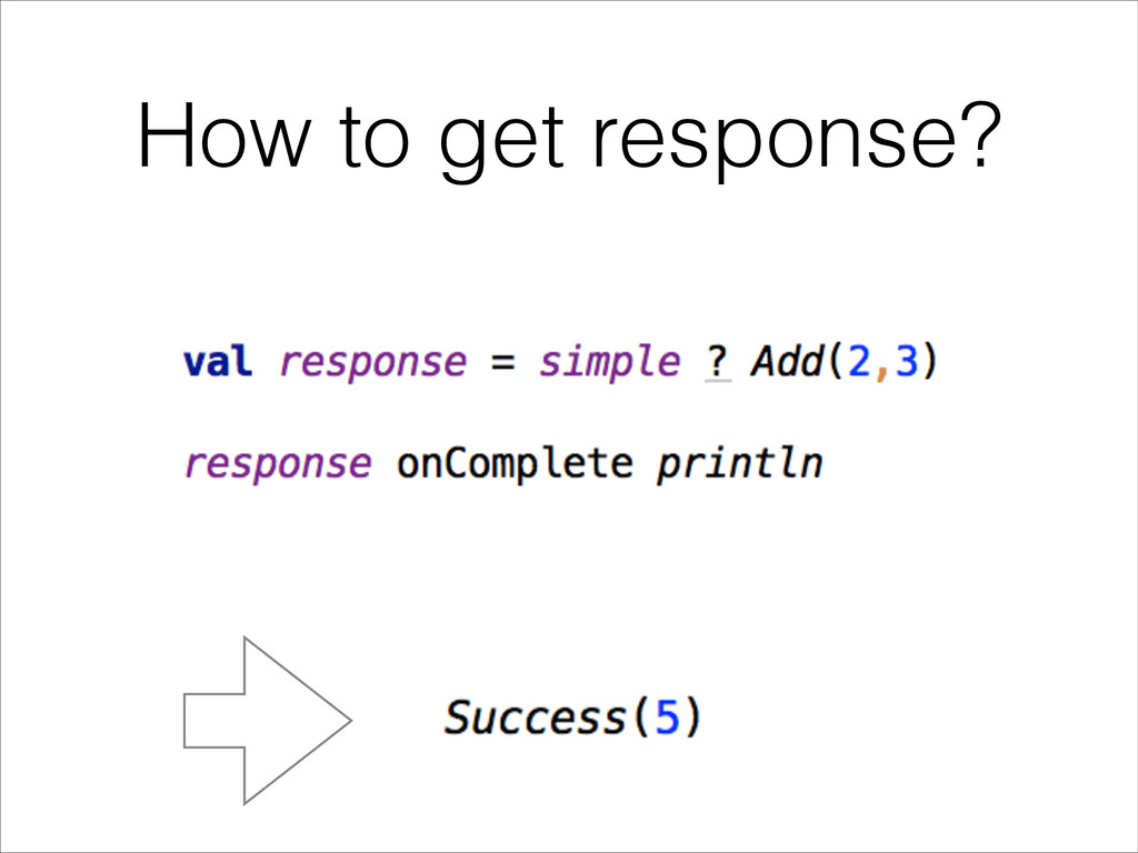 How to get response?