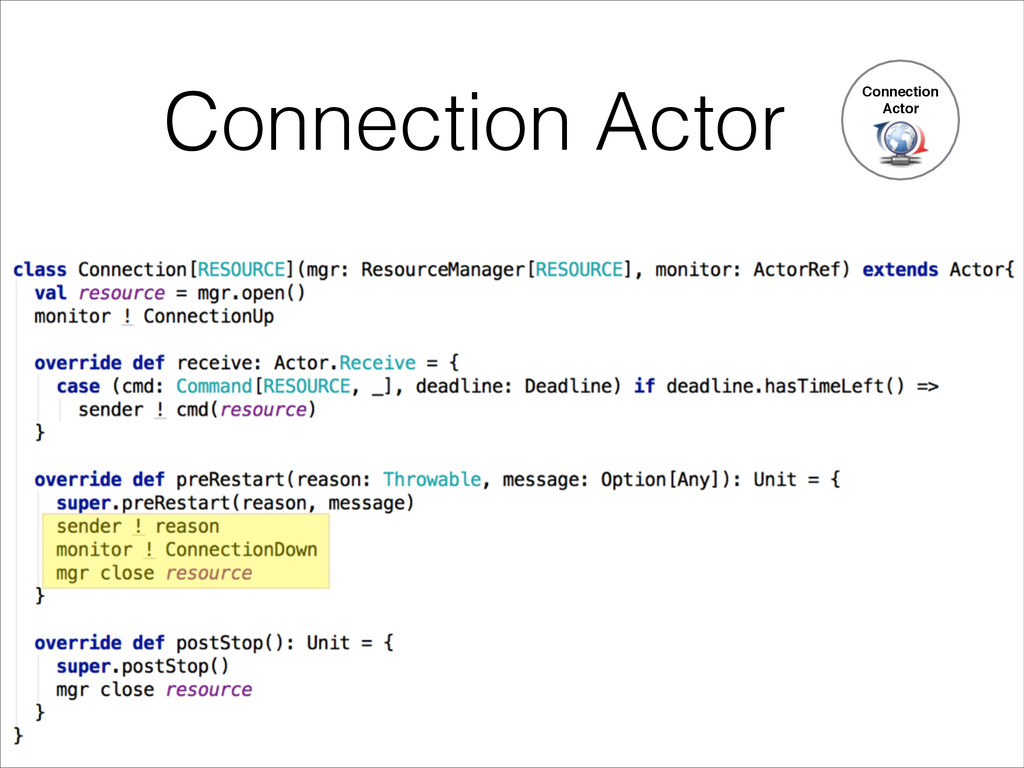 Connection Actor Connection Actor