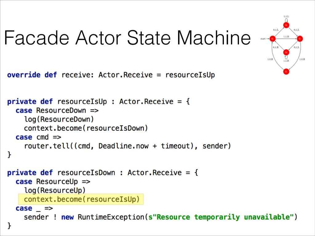 Facade Actor State Machine