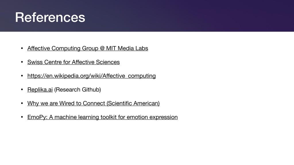 References • Affective Computing Group @ MIT Med...