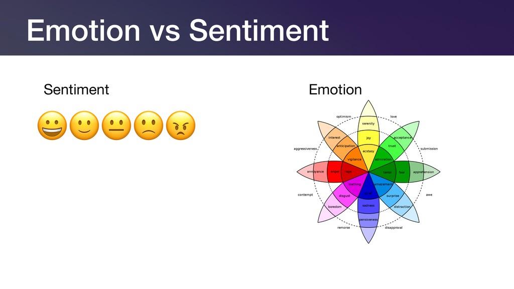 Sentiment Emotion Emotion vs Sentiment
