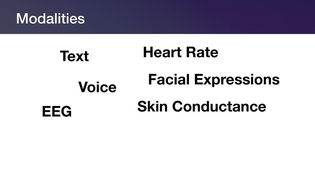 Modalities Text Voice Facial Expressions EEG He...
