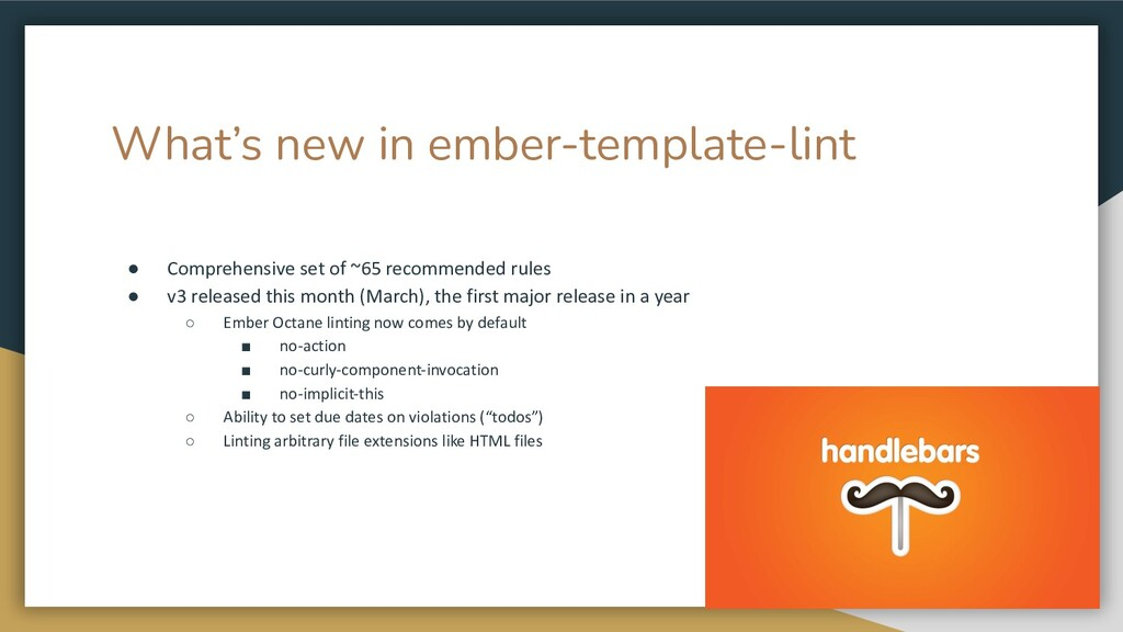 What's new in ember-template-lint ● Comprehensi...
