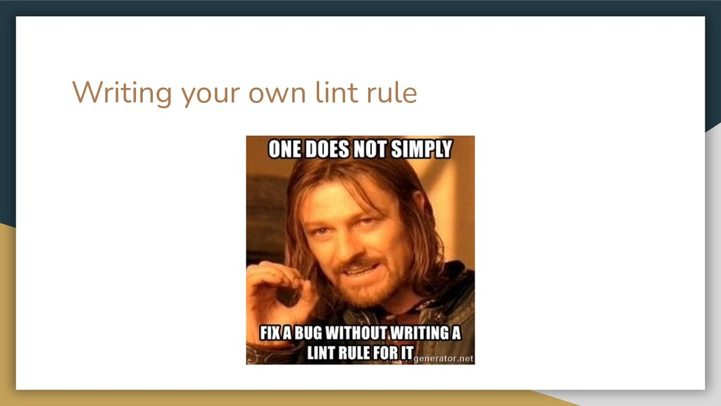 Writing your own lint rule