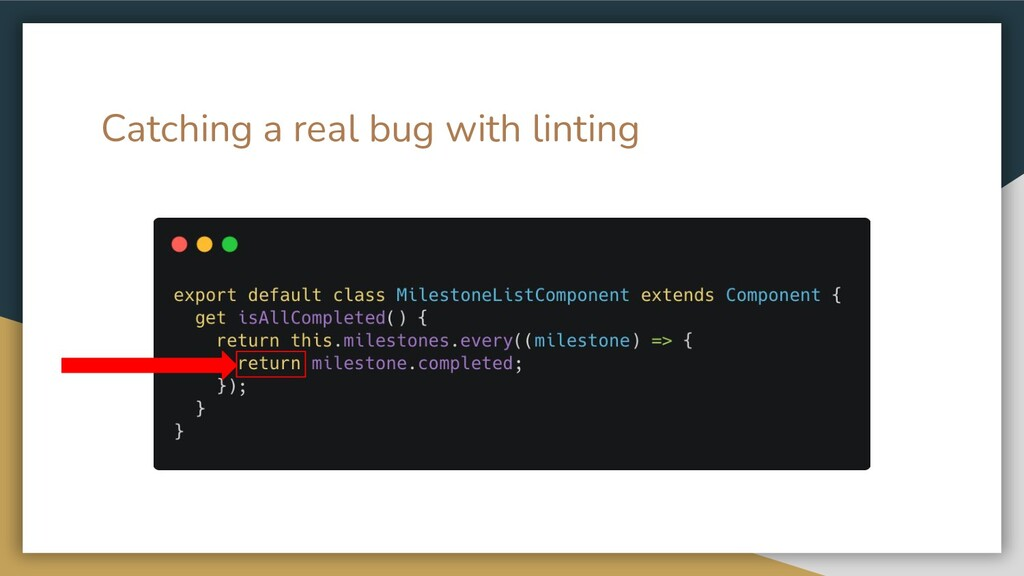 Catching a real bug with linting