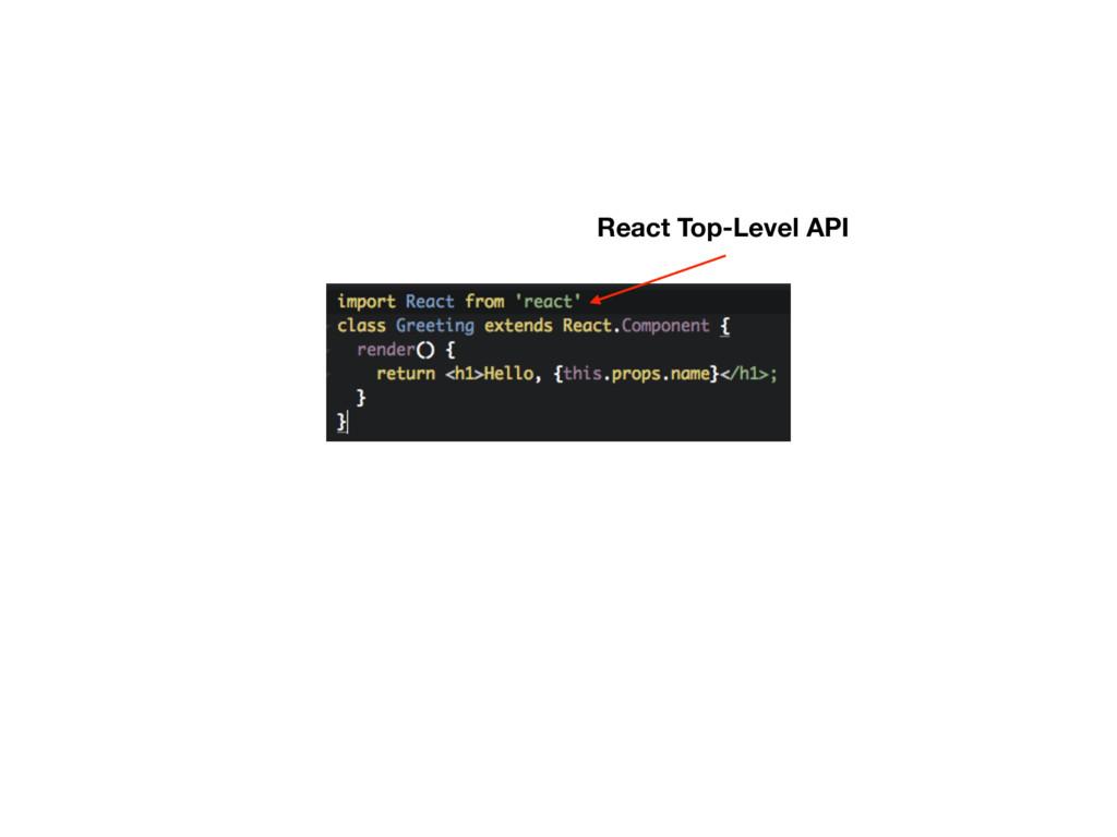 React Top-Level API