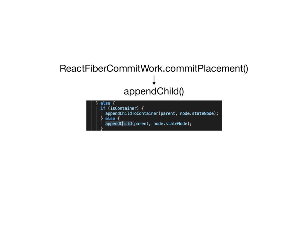 ReactFiberCommitWork.commitPlacement() appendCh...