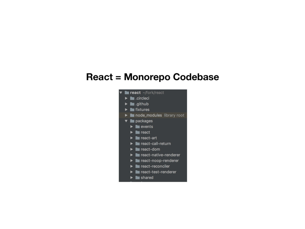 React = Monorepo Codebase
