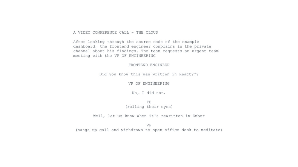 A VIDEO CONFERENCE CALL - THE CLOUD After looki...