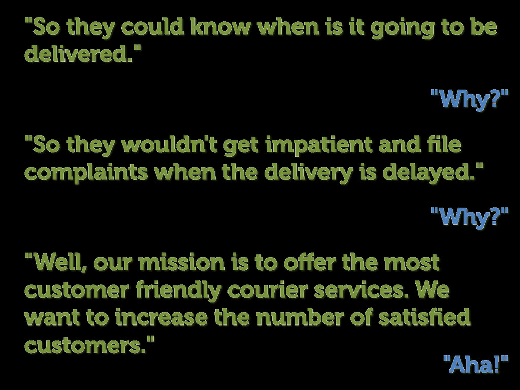 """""""Well, our mission is to offer the most customer..."""