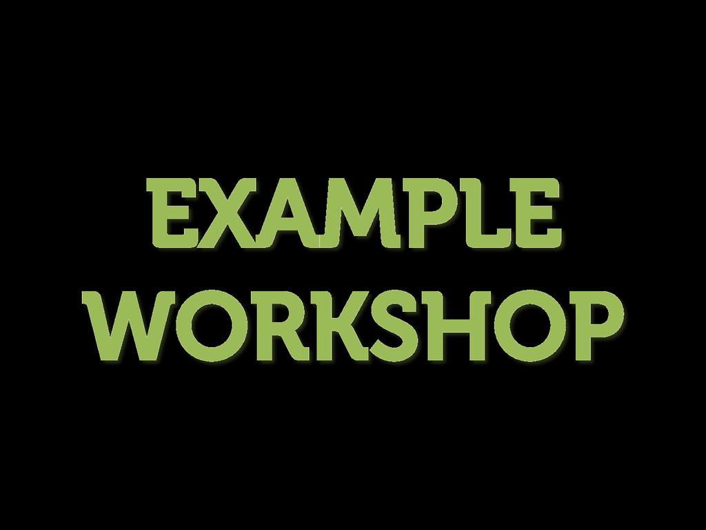 EXAMPLE WORKSHOP