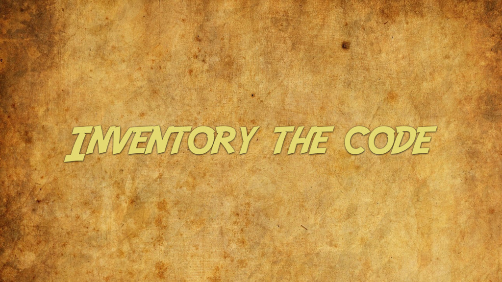 Inventory the code