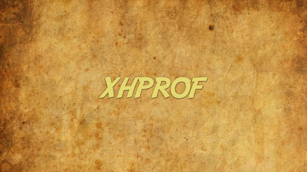 XHPROF