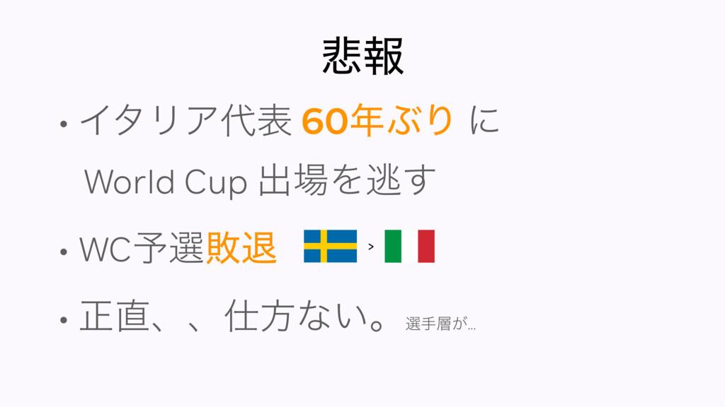൵ใ • ΠλϦΞද 60ͿΓ ʹ World Cup ग़Λಀ͢ • WC༧બഊୀ •...