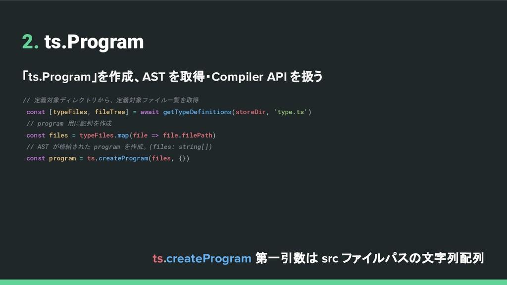 2. ts.Program 「ts.Program」を作成、AST を取得・Compiler ...