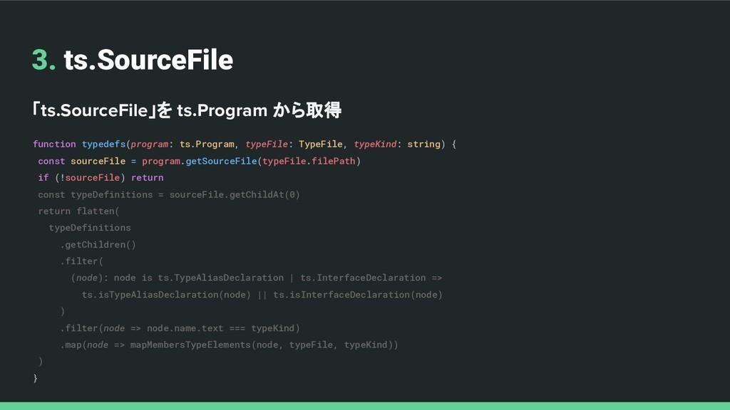 3. ts.SourceFile 「ts.SourceFile」を ts.Program から...