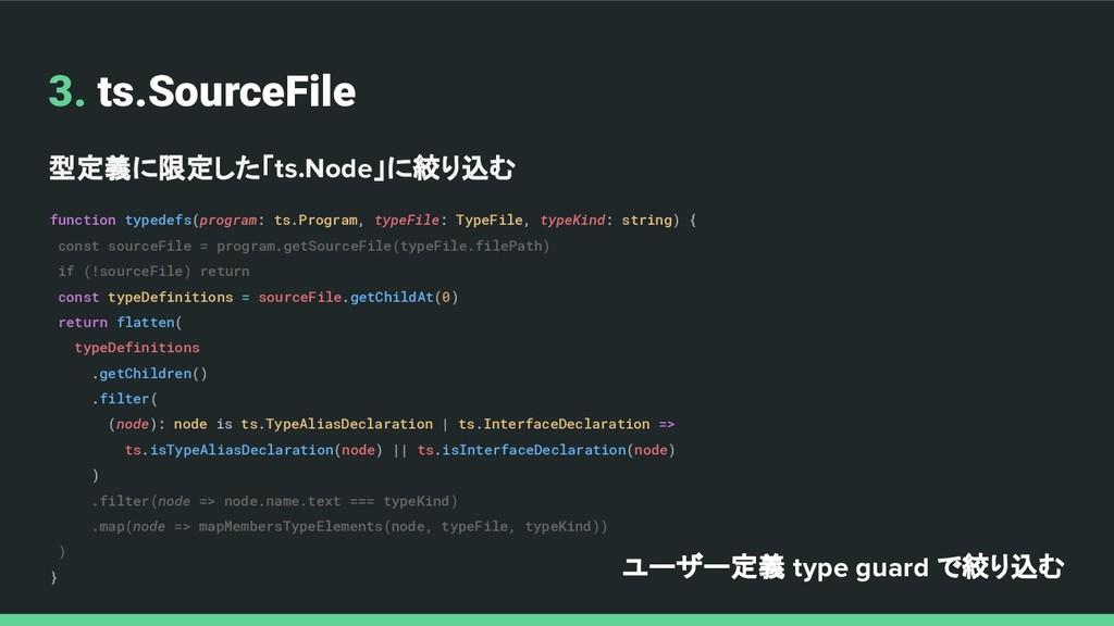 3. ts.SourceFile 型定義に限定した「ts.Node」に絞り込む functio...