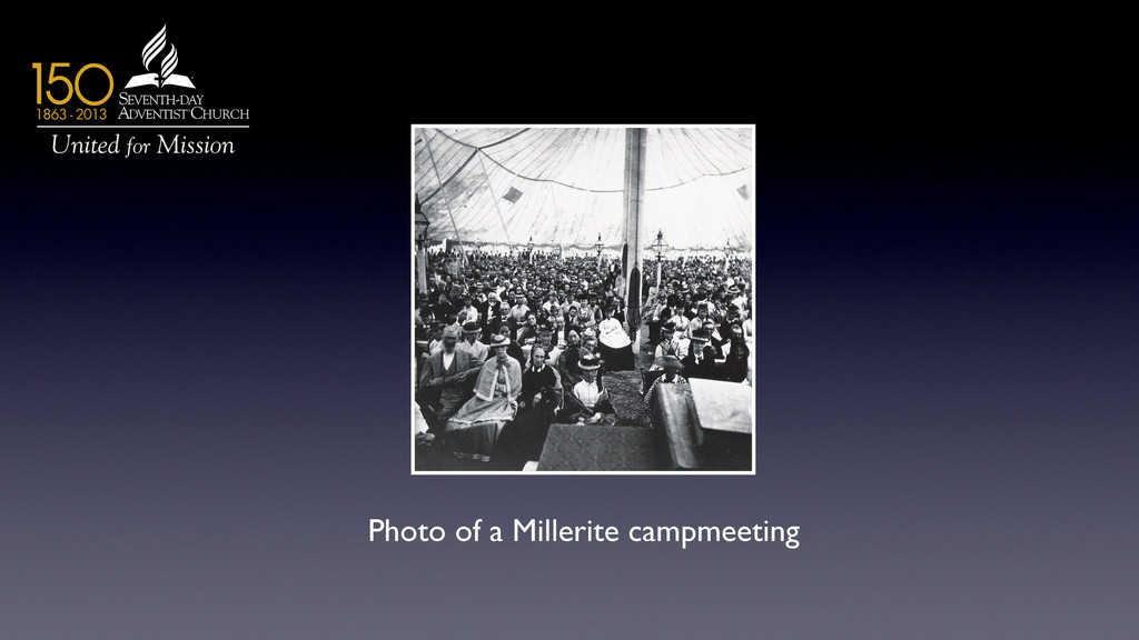 Photo of a Millerite campmeeting