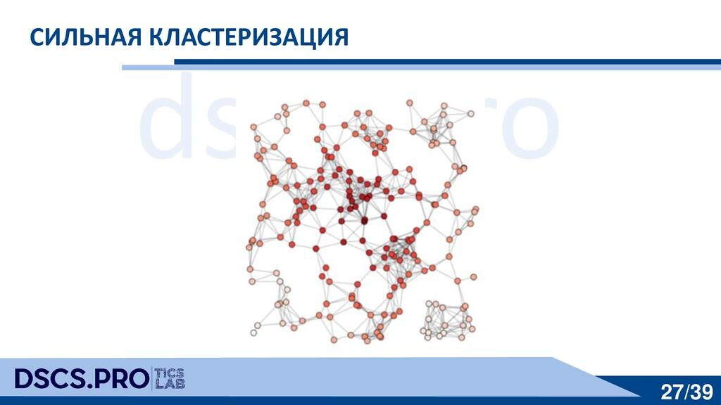 dscs.pro 27/39 СИЛЬНАЯ КЛАСТЕРИЗАЦИЯ