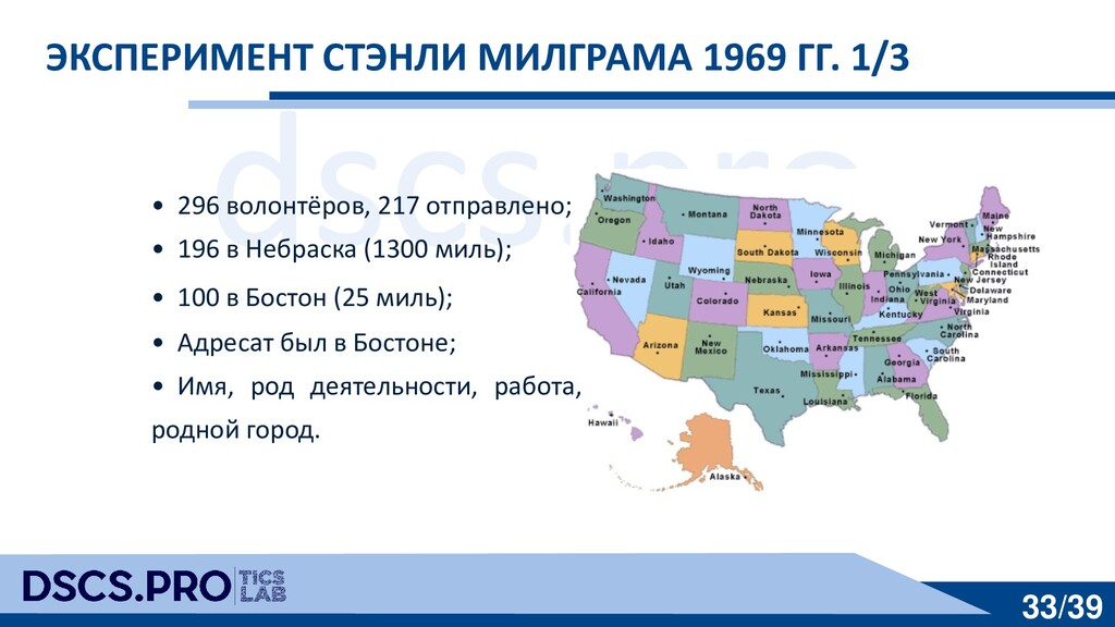 dscs.pro 33/39 ЭКСПЕРИМЕНТ СТЭНЛИ МИЛГРАМА 1969...