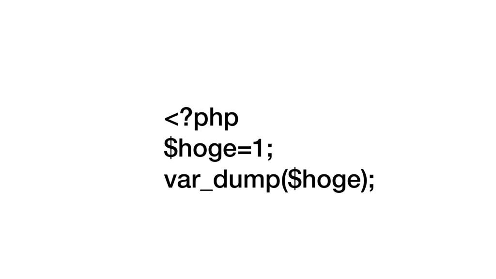 <?php $hoge=1; var_dump($hoge);