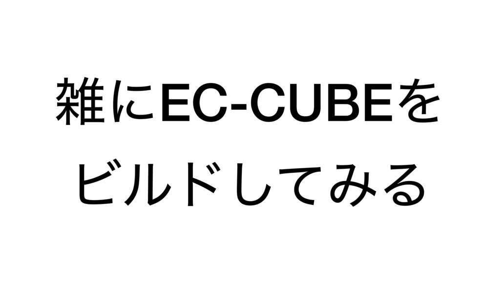 ʹEC-CUBEΛ Ϗϧυͯ͠ΈΔ