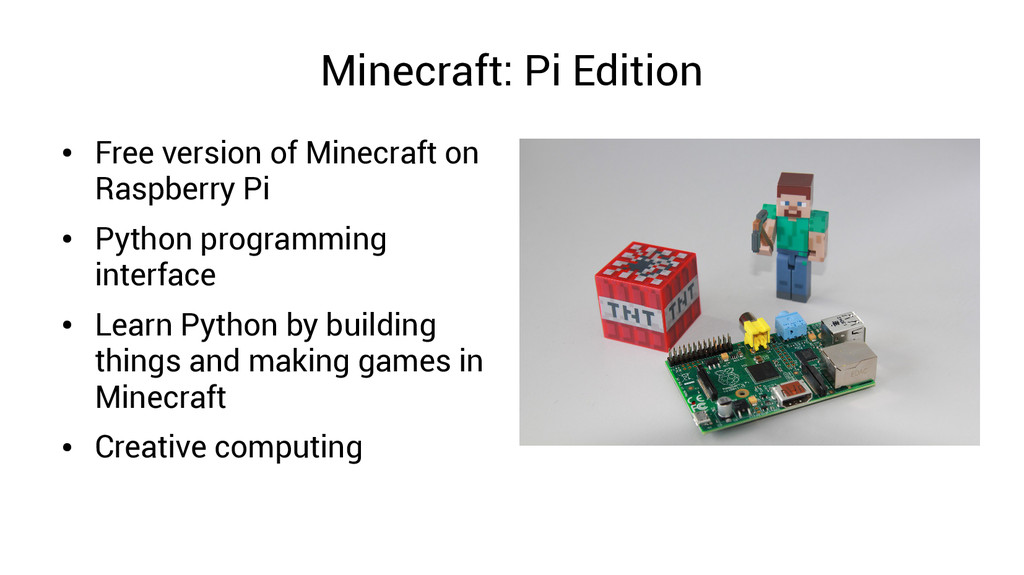 Minecraft: Pi Edition ● Free version of Minecra...