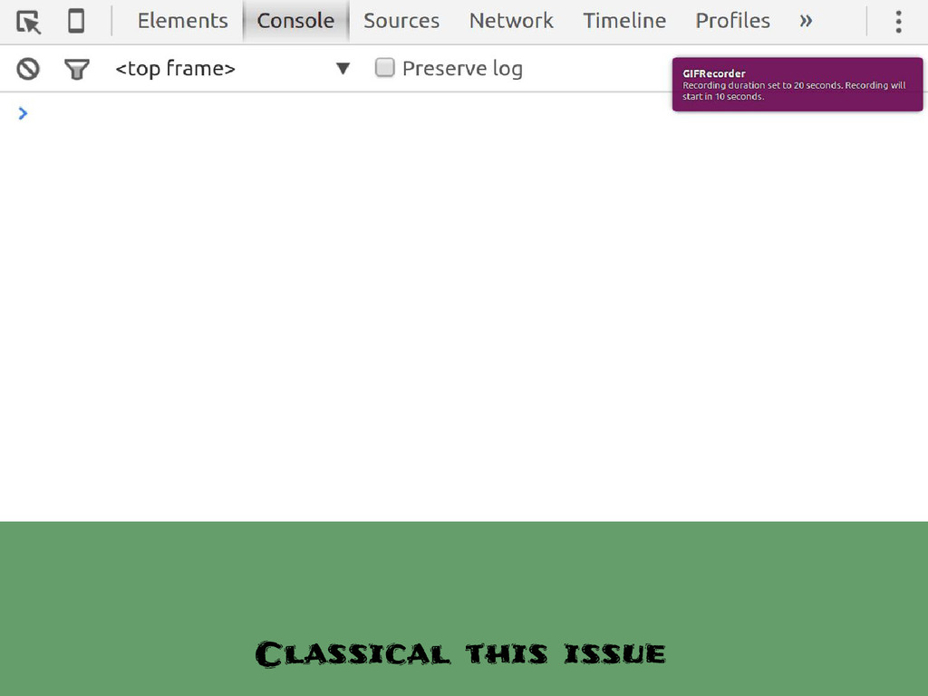 Classical this issue