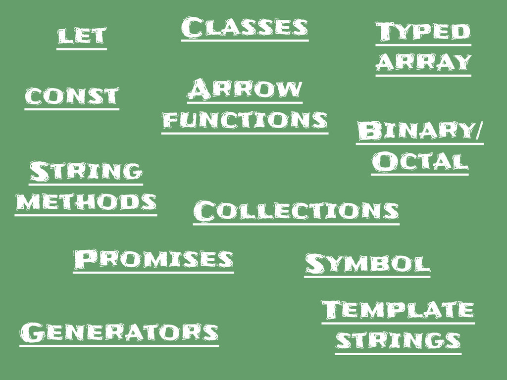 let const Typed array Collections Classes Gener...