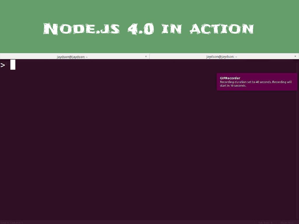 Node.js 4.0 in action
