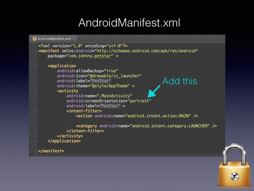 AndroidManifest.xml Add this