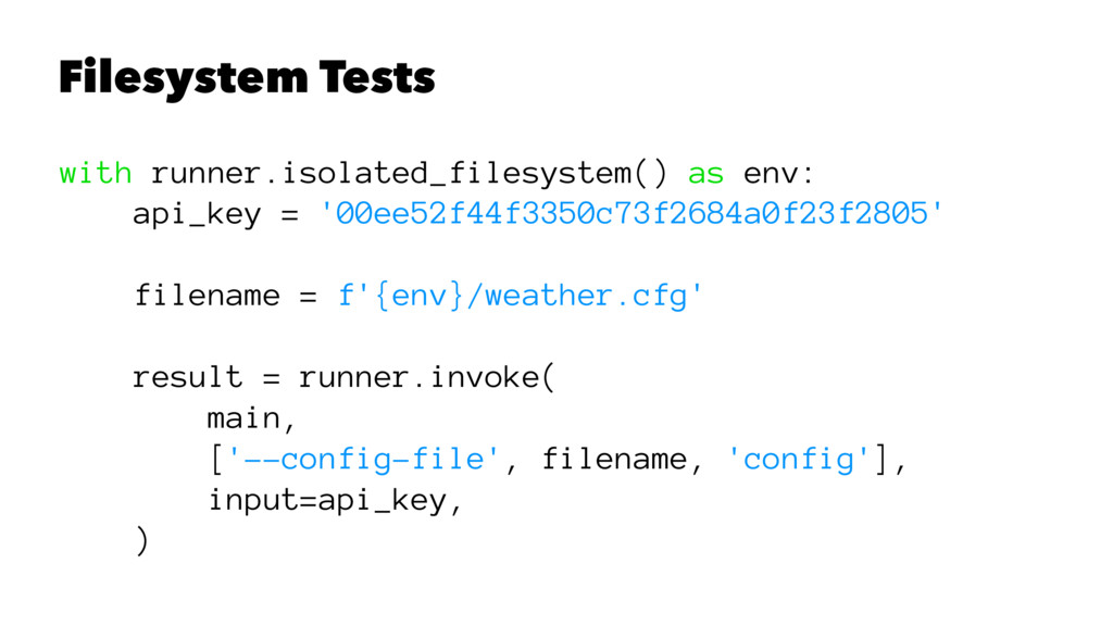 Filesystem Tests with runner.isolated_filesyste...