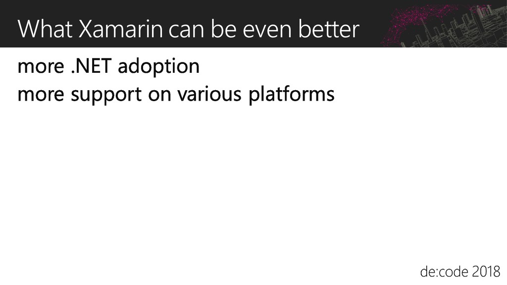 What Xamarin can be even better