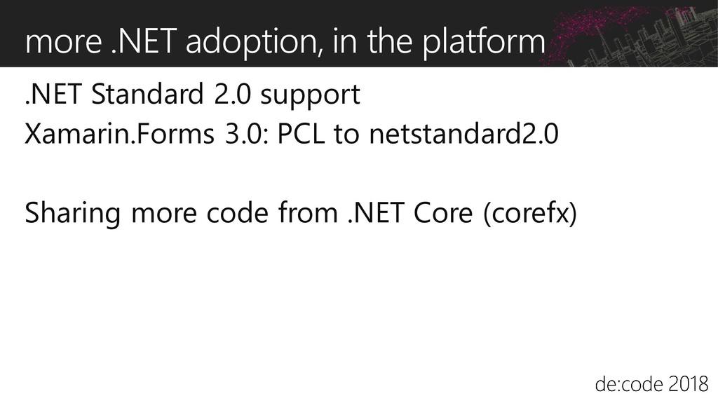 more .NET adoption, in the platform .NET Standa...