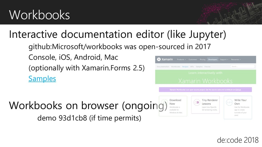 Workbooks Interactive documentation editor (lik...