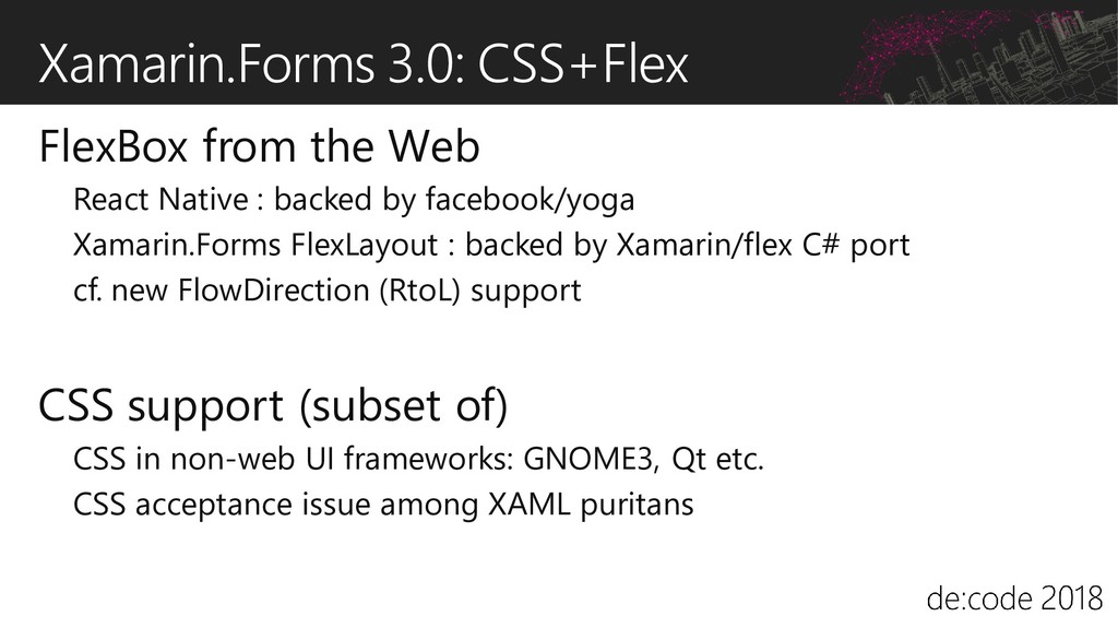 Xamarin.Forms 3.0: CSS+Flex FlexBox from the We...