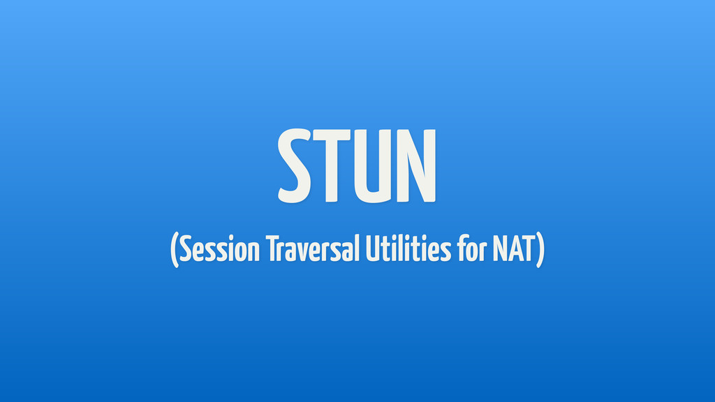 STUN (Session Traversal Utilities for NAT)
