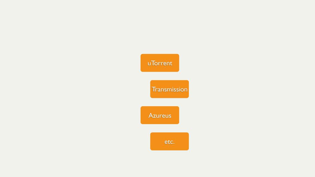 uTorrent Transmission Azureus etc.