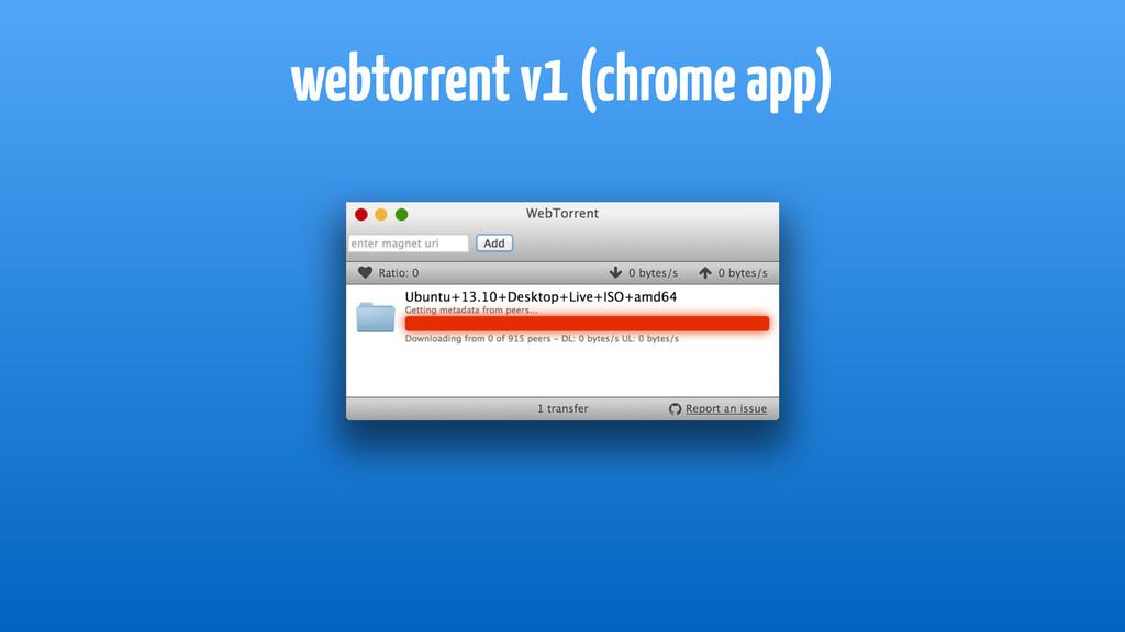 webtorrent v1 (chrome app)