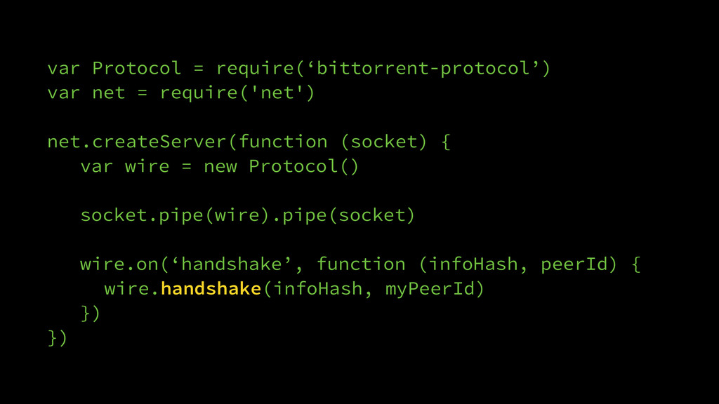 var Protocol = require('bittorrent-protocol') v...