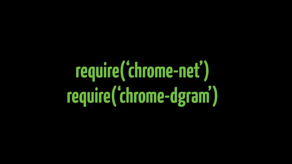 require('chrome-net') require('chrome-dgram')