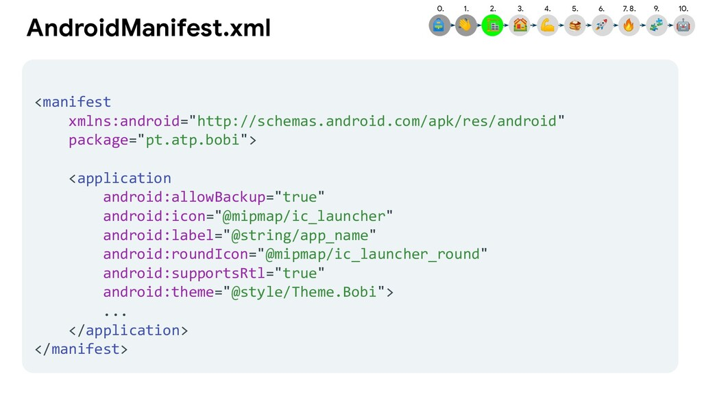 1.  2.  AndroidManifest.xml <manifest xmlns:and...