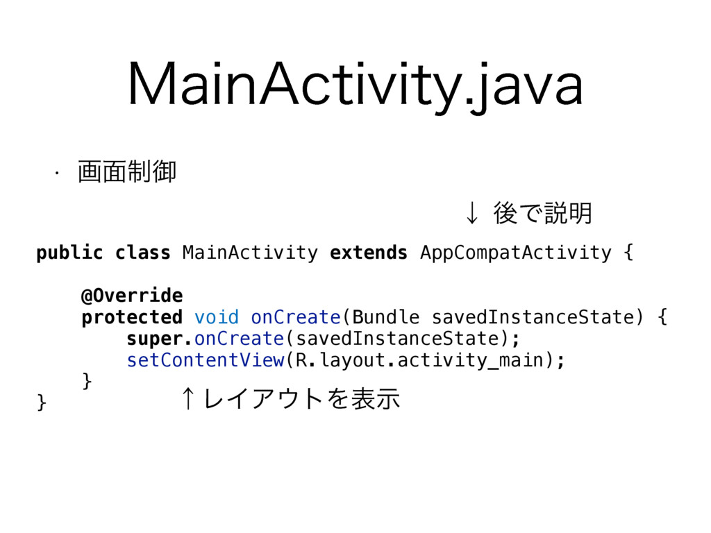 ".BJO""DUJWJUZKBWB public class MainActivity ext..."