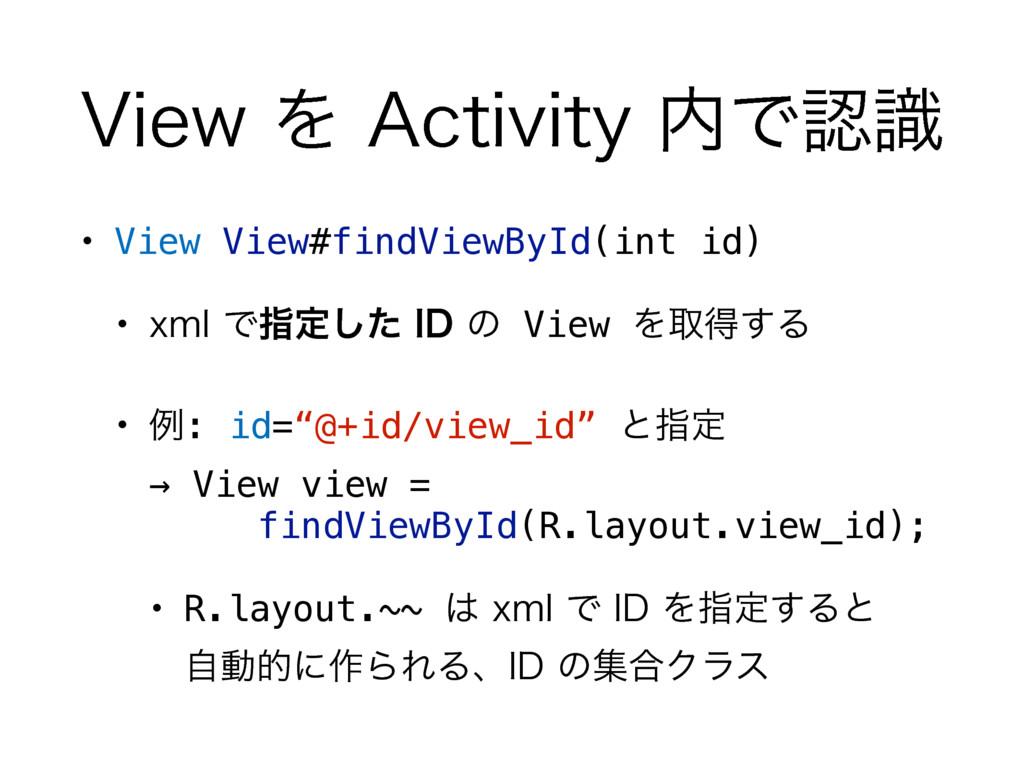 "7JFXΛ""DUJWJUZͰࣝ • View View#findViewById(i..."