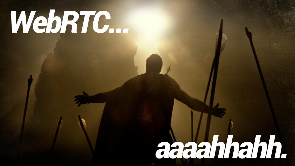 WebRTC... aaaahhahh.