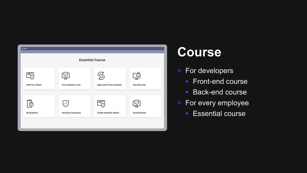 Ƃ Course > For developers • Front-end course • ...