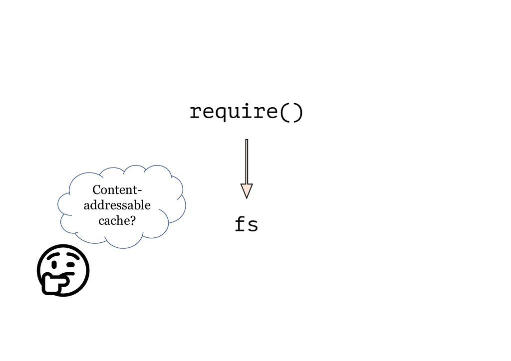 require() fs Content- addressable cache?