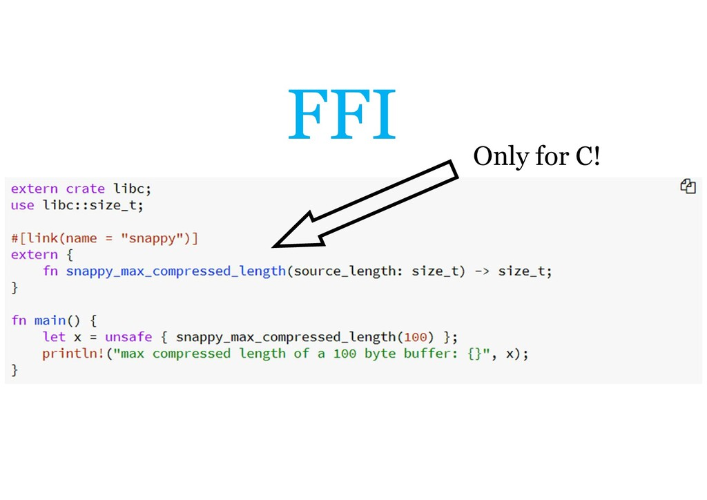 FFI Only for C!