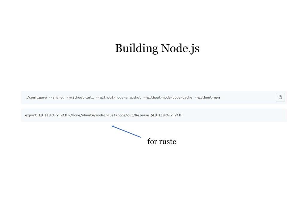 for rustc Building Node.js